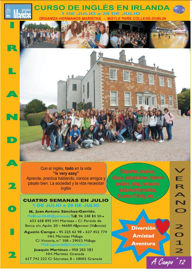Campamento Irlanda 2012. Del 1 al 29 de Julio